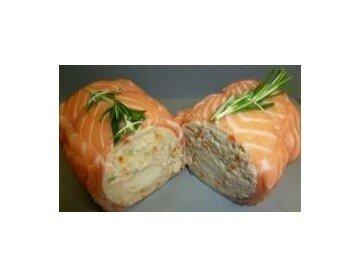 Rôti farci au saumon et aux noix de St-Jacques